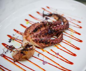 Grilled octopus at Lurra