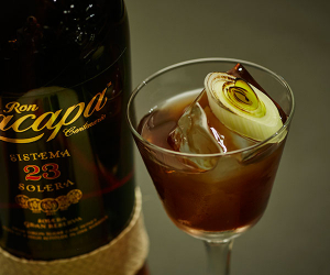 Ron Zacapa's leek and balsamic vinegar cocktail