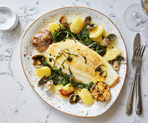 Whole lemon sole at Galley