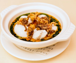 Monkfish cassoulet at Piquet