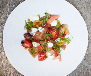 Heritage tomatoes at Picture Marylebone