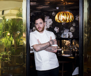 Tom Sellers at Restaurant Ours. Photograph by Ciaran McCrickard