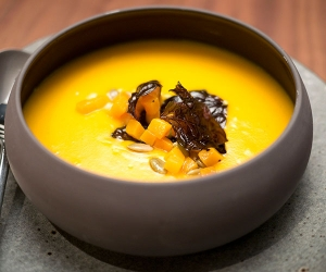 Samarkand's recipe for squash and liquorice soup