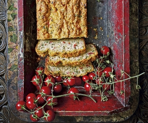 Chetna Makan's The Cardamom Trail tomato and paneer loaf. Photography by Nassima Rothacker