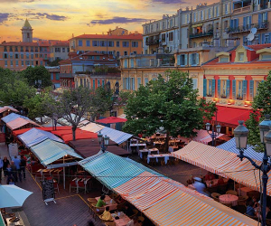 Nice's old town. Photograph by Inge Johnsson/Alamy Stock photo