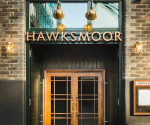The entrance to Hawksmoor Borough