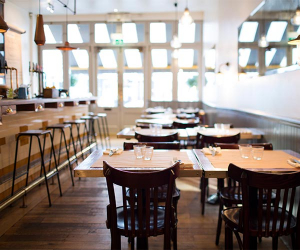 The interiors at Bistro Union on Abbeville Road