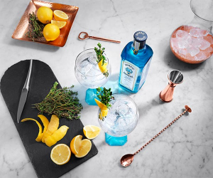 Bombay Sapphire's lemon and thyme twist