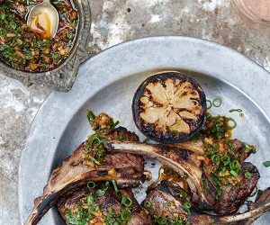 Make Caravan's chargrilled lamb cutlets with chermoula marinade