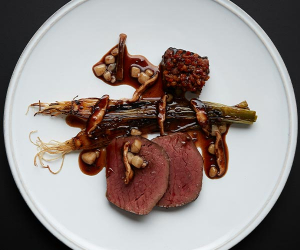 Veal at Neo Bistro. Photograph by Joakim Blockstrom