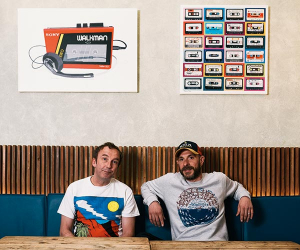 Carl Clarke and David Wolanski, co-founders of Chick 'n' Sours; photograph by Chris Coulson