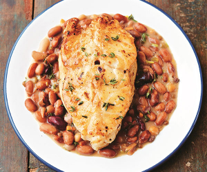 Bart van Olphen's pinto beans with cod recipe