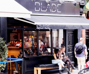 The exterior of Blade Hairclubbing in Soho