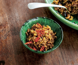 Hugh Fearnley-Whittingstall's red cabbage and cashew biryani; photography © Simon Wheeler