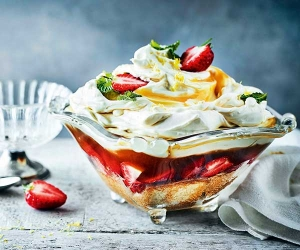 Leah Hyslop's Pimm's trifle; photography by Martin Poole