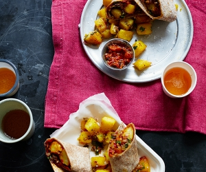 Nisha Katon's Indian-inspired chip butty; photography by Yuki Sugiura
