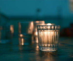 A glass of mezcal. Photograph by Anna Bruce