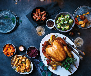 A traditional Christmas spread from Lidl, featuring a Silver Slate turkey
