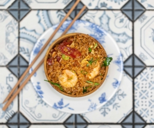 Jeff Tan's home-style fried rice in king soy sauce