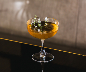 A Meadowsweet Martini from the Bassoon Bar at the Corinthia Hotel London