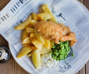 Fish and chips from The Blue Anchor