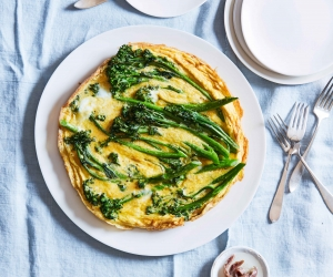 Make Stacy Adimando's broccolini frittata; photography by Linda Pugliese