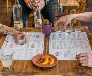 Mezcal tasting at Sin Gusano. Nic Crilly-Hargrave Photography