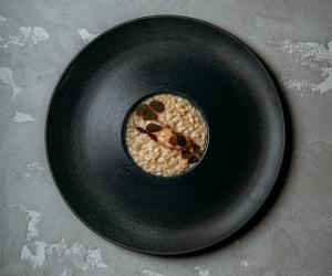 Langoustine vialone, nano risotto at Da Terra