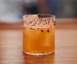 Arabica Bar & Kitchen's Pomegranate Margarita