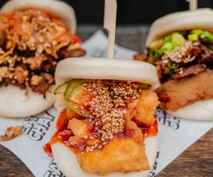 Biff's Jack Shack's vegan burgers