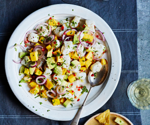 Raul Diaz's ceviche with avocado and mango
