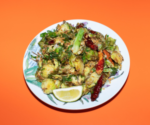 Typhoon shelter brussels sprouts; photography by Lucy Sparks
