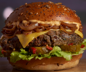 Best plant-based burgers in London – The 'What's Ur Beef?' burger at Mooshies