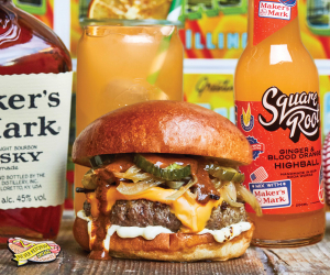Marker's Mark and Honest Burgers collab