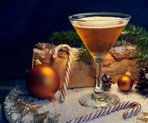 Bardinet brandy Christmas stocking cocktail